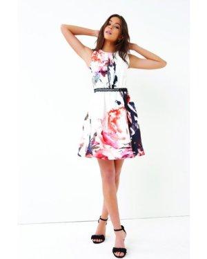 Little Mistress Print Mini Dress size: 10 UK, colour: Multi
