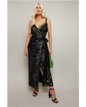 Little Mistress Emil Sequin Stripe Midaxi Dress size: 12 UK, colour: M