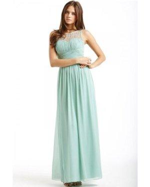 Little Mistress Sage Embellished Detail Maxi Dress size: 12 UK, colour