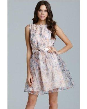 Little Mistress Floral Organza Prom Dress size: 16 UK, colour: Print