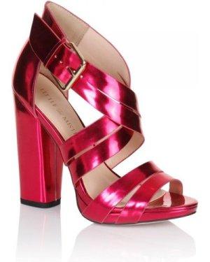 Little Mistress Pink Cross Over Multi Strap Heels size: Footwear 6 UK,