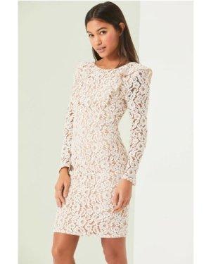Little Mistress White Bodycon Dress size: 8 UK, colour: White