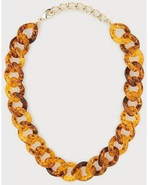 Brighton Tortoise Shell Resin Chain Necklace, Tortoise Shell
