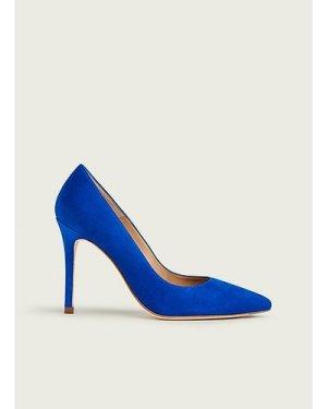 Fern Blue Suede Courts, Klein Blue