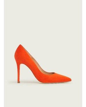 Fern Orange Suede Courts, Orange