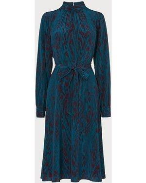 Dora Blue Silk Dress, Blue