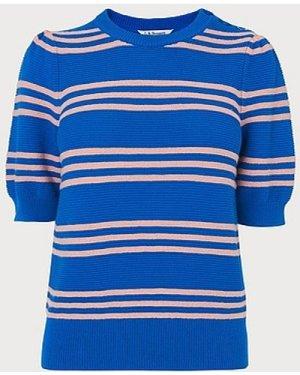 Isobel Blue Stripe Cotton Jumper, Multi