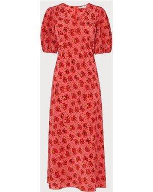 Simpson Poppy Print Silk Tunic Dress, Poppy