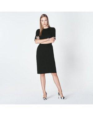 Liya Black Jersey Dress, Black