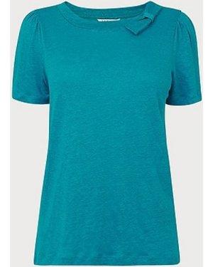 Jane Green Linen T-Shirt, Bright Green