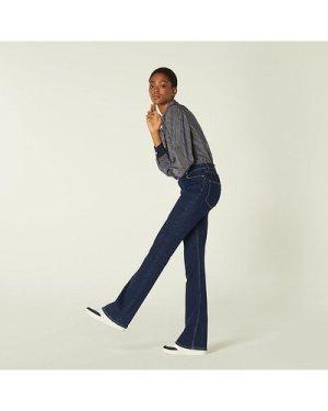 Cora Indigo Denim Flared Jeans, Indigo