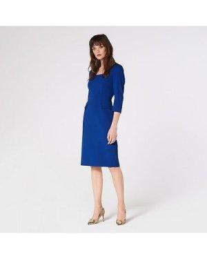 Ivor Blue Crepe Shift Dress, Royal