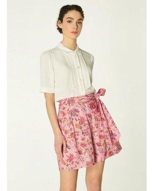 Gabby Pink Romance Floral Print Eco Viscose Shorts, Pink Multi