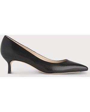 Audrey Black Leather Courts, Black