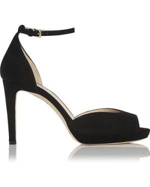 Yasmin Black Suede Sandals, Black