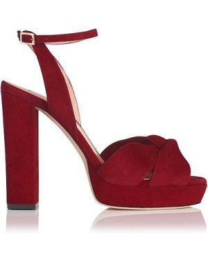 Annabella Red Suede Sandals, Poppy