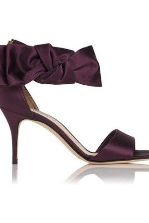 Agata Loganberry Satin Formal Sandals, Loganberry
