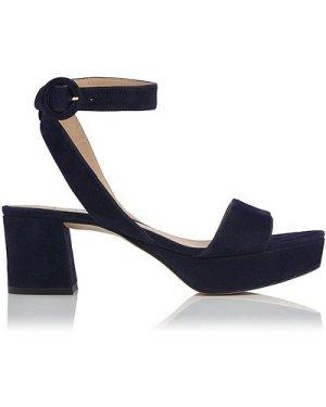 Alie Navy Suede Sandals, Navy