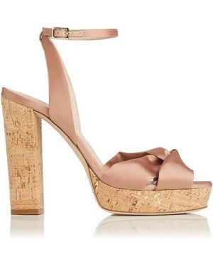 Annabella Rose Satin Sandals, Rose