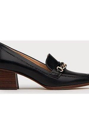 Retta Black Leather Courts, Black