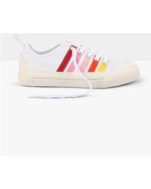 hush white-pink-multi Epsom Canvas Trainers White/multi