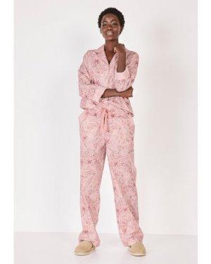 hush animal-safari-soft-pinks Isla Printed Cotton Pyjamas Animal Safari Soft Pinks