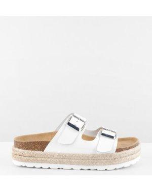 hush white Woodstock Sandals White
