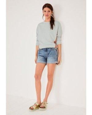 hush light-blue-authentic Denim Shorts Light Blue Authentic