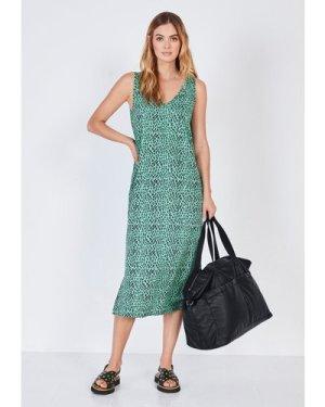 hush leopard-mark-green Lara Jersey Maxi Dress Mint green