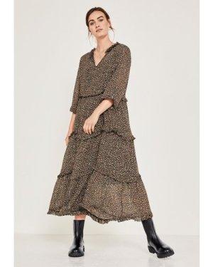 hush mini-natural-leopard Hilja Frill Dress Leopard Print