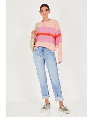 hush light-blue Anna Straight Leg Jeans Blue Denim