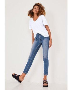 hush mid-authentic-blue Erin Skinny Jeans Blue Denim
