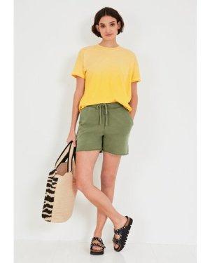hush summer-yellow Ombre Boxy Cotton T-Shirt Summer Yellow