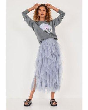 hush washed-grey-pink-print Cactus Relaxed Sweatshirt Grey/Pink
