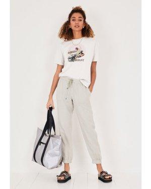 hush ecru-beige---multi Desert Highway Boxy T-Shirt Beige / Multi