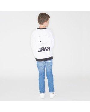 Slim-fit denim trousers KARL LAGERFELD KIDS KID BOY