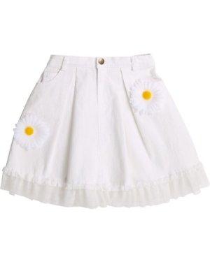 Flowered denim skirt CHARABIA KID GIRL