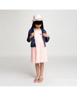 Dual-material strappy dress BILLIEBLUSH KID GIRL