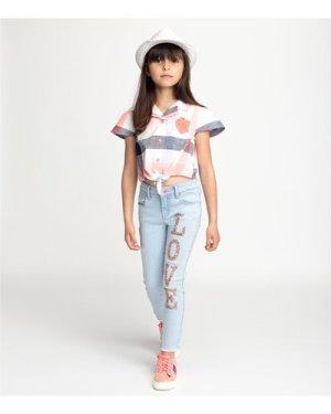 Stretch denim trousers BILLIEBLUSH KID GIRL