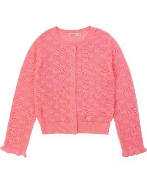 Heart-motif tricot cardigan BILLIEBLUSH KID GIRL