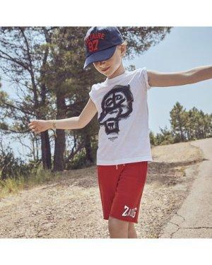 Fleece shorts with logo ZADIG & VOLTAIRE KID BOY