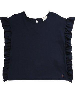 Plain frilled T-shirt CARREMENT BEAU KID GIRL
