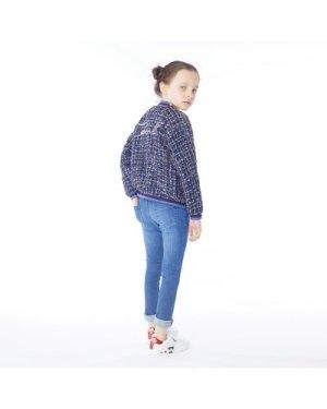 Slim-fit denim trousers KARL LAGERFELD KIDS KID GIRL