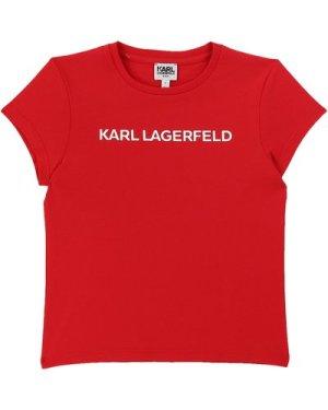 Short-sleeved T-shirt KARL LAGERFELD KIDS KID GIRL