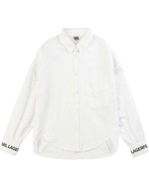 Shirt with back pleats KARL LAGERFELD KIDS KID GIRL