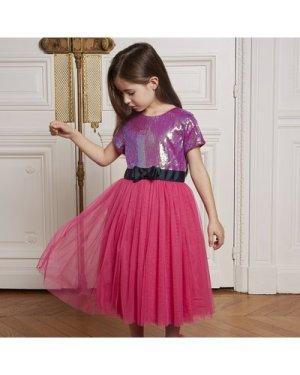 Tulle and sequin midi dress CHARABIA KID GIRL