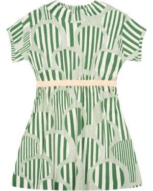 Line Tree Close-Fitting Dress
