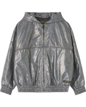 Rainbow Hologramme Zip-Up Hooded Jacket