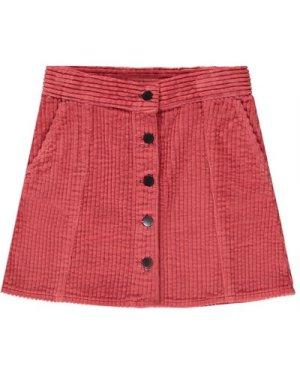 Ribbed Velvet Trapeze Skirt