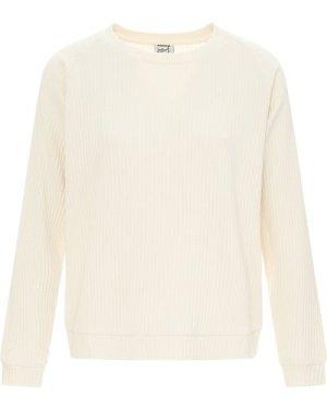 Basic Ribbed Sweatshirt